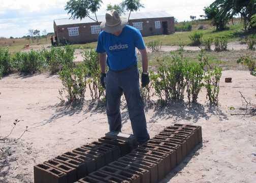 making bricks Zambian style