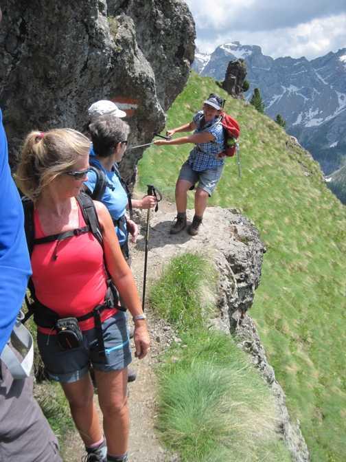 Walk 3 Val de Contrin to ridge above Sen Nicolo