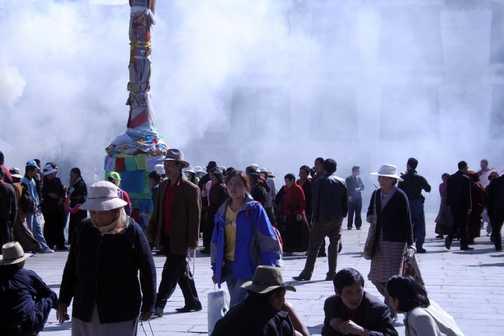 Burning Juniper at the Barkhor