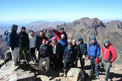 Group at Toubkal summit