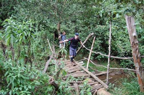 Access bridge to Mau Mau caves
