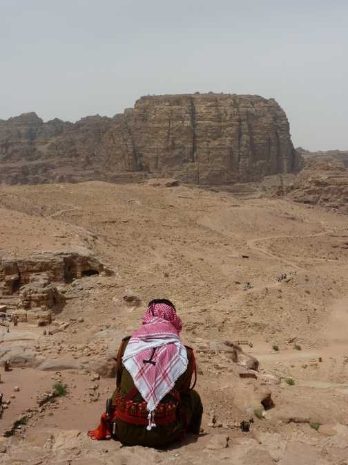Guard watching over Petra
