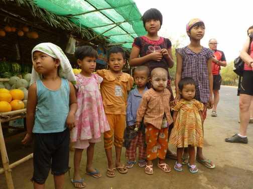 Fruit stall owner's kids