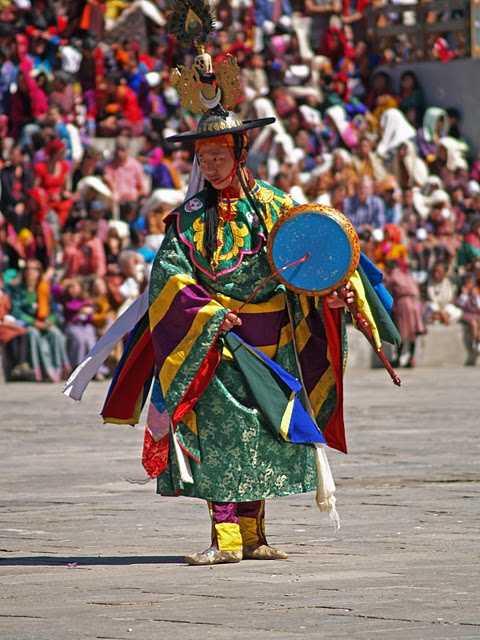 Crowd at Thimphu festival