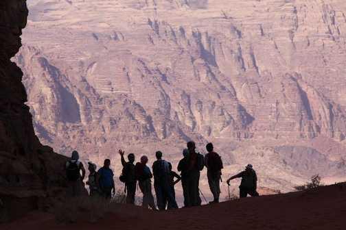 Happy group  Wadi Rum