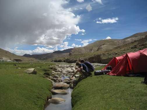Camping near Nam Tso