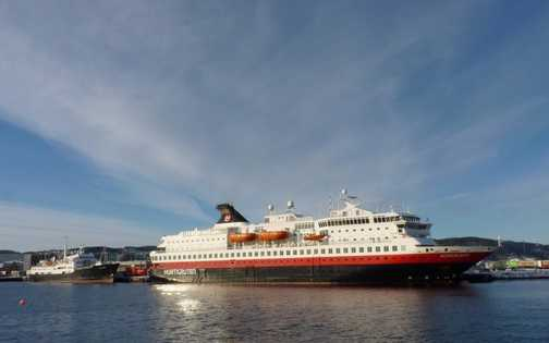 Hurtigruten ships at Trondheim