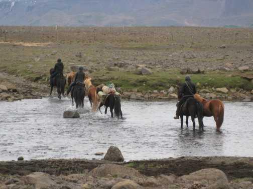 Some horse trekkers on the Kjölur route