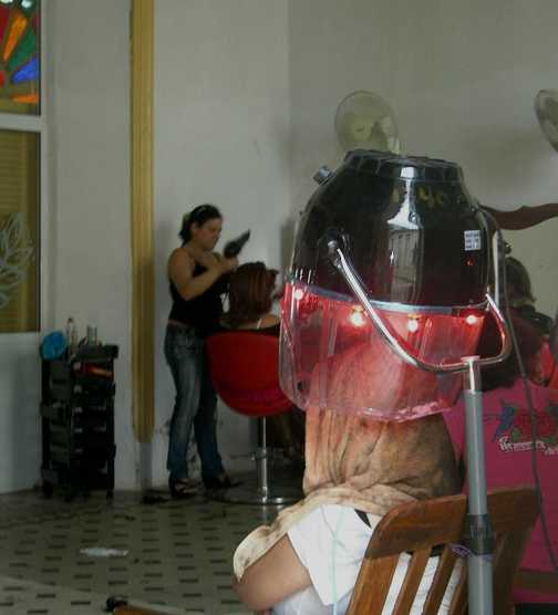 Getting the hair done
