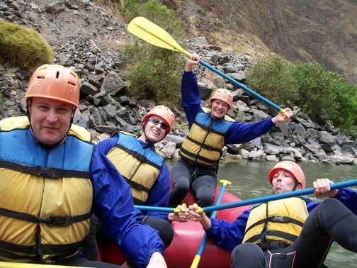 rafting on the urubamba
