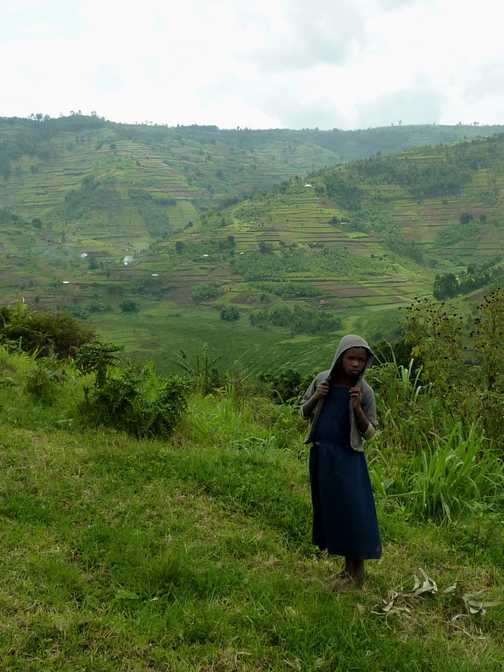 Boy with young sibling - Rwanda