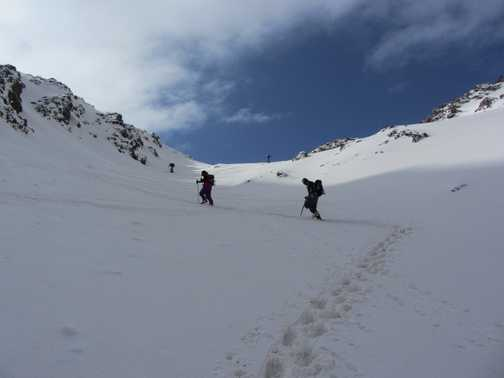 Trekking up to Col close to Jbel Ouanoukrim