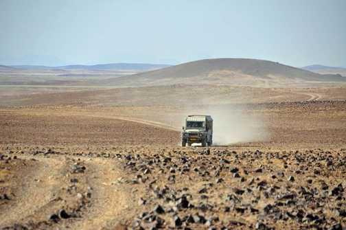 Driving across the Namib Desert