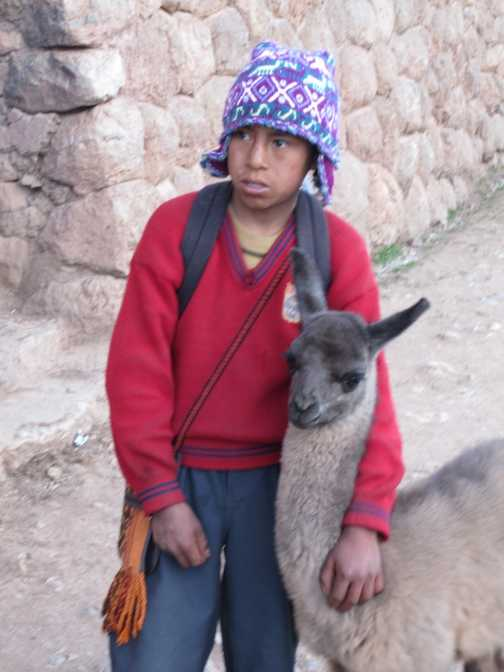 Boy in chinchero