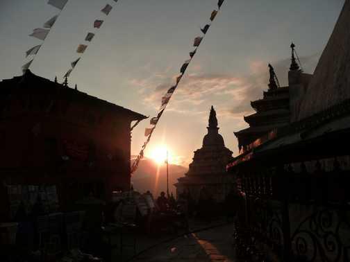 Sunset at stupa, Kathmandu