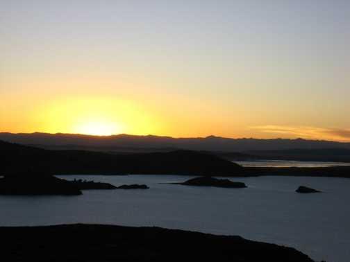 Sunset on Amantani Island