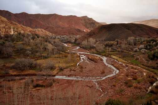 Atlas Mountains - walking to Tijhza