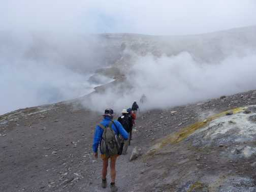 A trek around the crater - Mt Etna