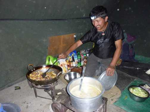 Manilal cooking up amazing food