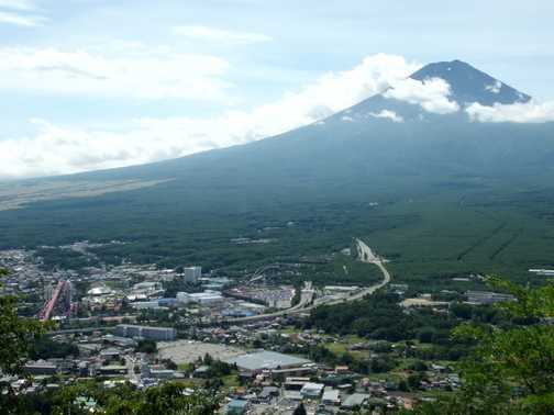 Fuji, with the amazing Fuji Q Highland theme park in the foreground