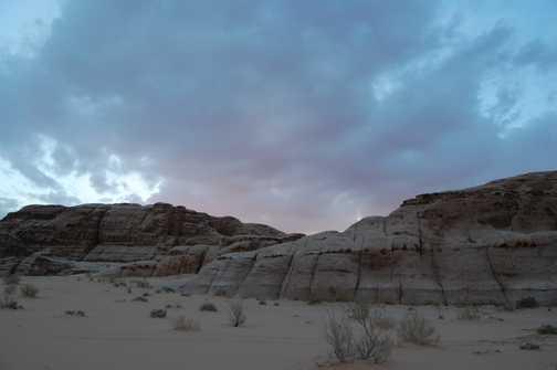 Wadi Rum at dusk