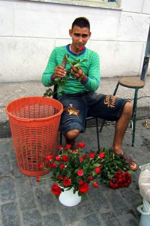 Flower seller, Santa Clara
