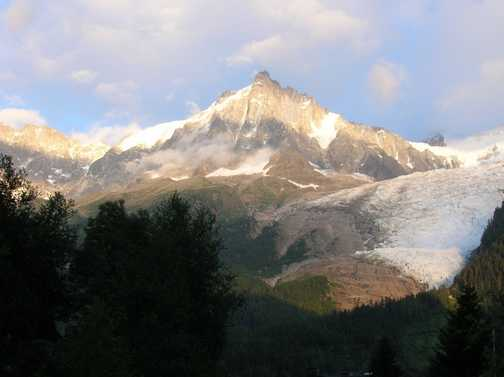 View from Chamonix.