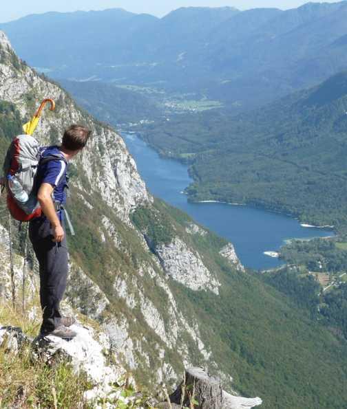 Day 2 - David looking out towards Lake Bohinj