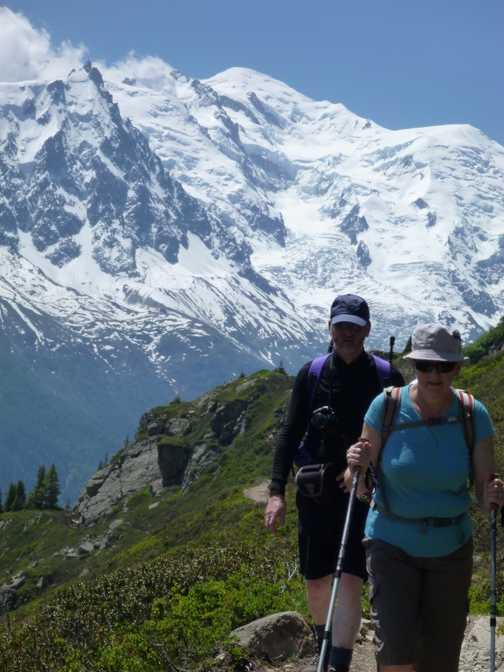 above the Chamonix valley