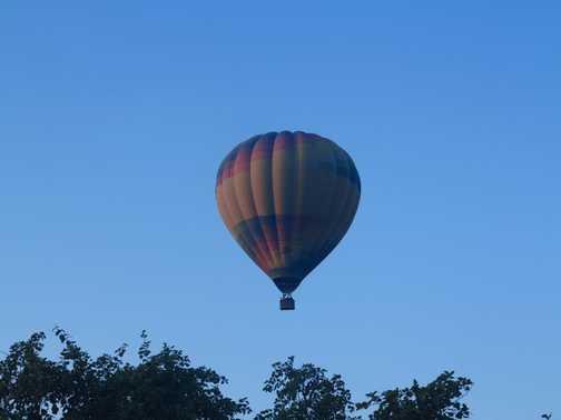 dawn balloon ride, Pushkar