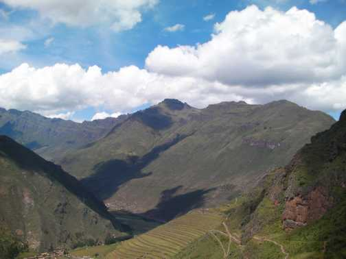 The amazing views from out 5* hotel in the Sacred Valley