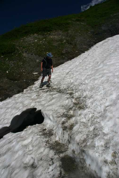 Crossing snow early season