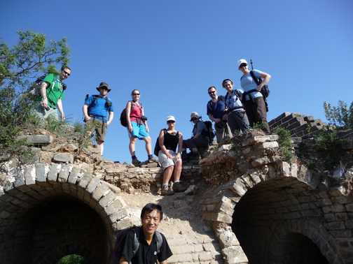 Our group on top of a derelict watchtower