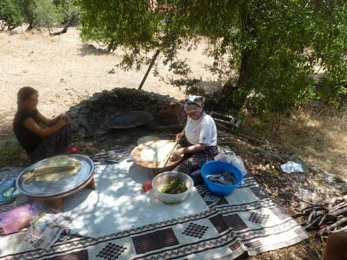 Lunch on a turkish hot plate