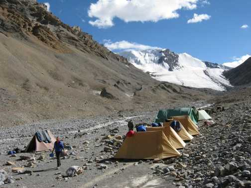 Parang La northern base camp.