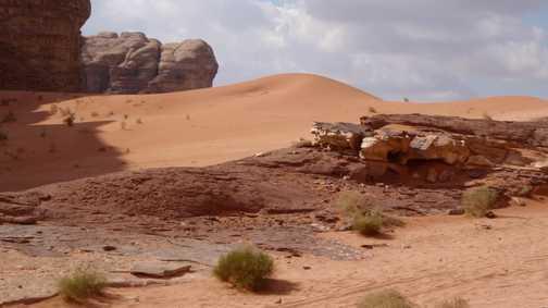 Dunes in Wadi Rum