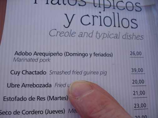 Maybe not this menu choice?