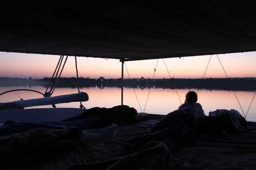 Dawn on the Nile, Felucca trip