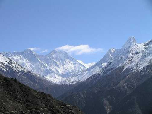 Everest from Namche