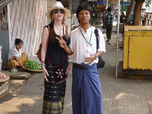 Victoria and Thura, our local guide