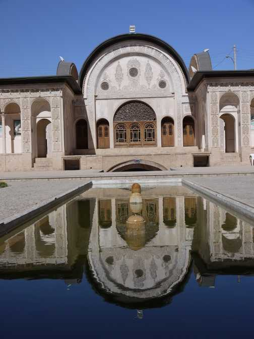 The pool at our hotel on day six . . . Kashan.