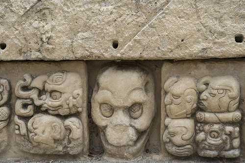 Skull, Copan ruins