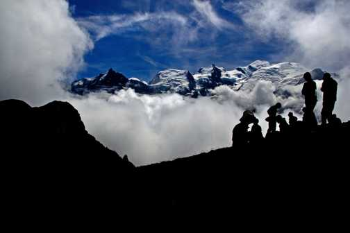 Mont Blanc from Aguillettedes Houches