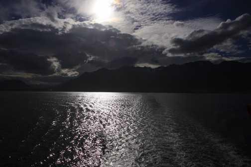 looking back at ushuaia
