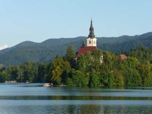 Lake Bled with church