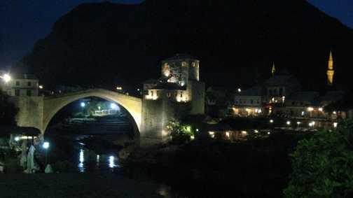 Mostar at night