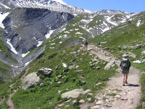 On trail towards Chalet Ref des Mottets