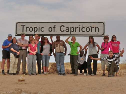 The Team cross the Tropic