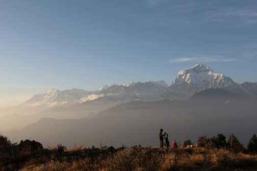 Ready for sunset at Poon Hill
