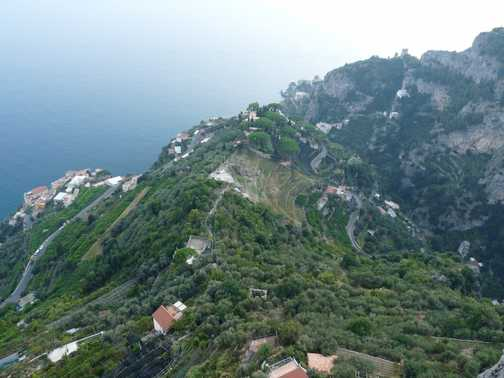 Windy road up to Ravello